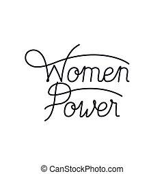 kvinder, etikette, isoleret, magt, ikon