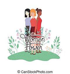 kvinder, karakter, avatar, magt, etikette