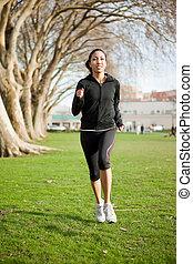 kvinna, övning