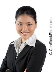 kvinna, asiatisk affärsverksamhet