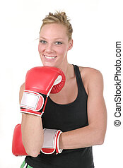 kvinna, boxare, 5