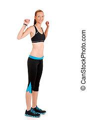 kvinna dans, zumba, fitness