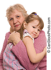 kvinna, dotter, äldre, storslagen