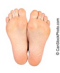 kvinna, fötter