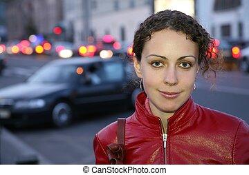 kvinna, gata