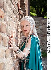kvinna, in, medeltida, tajmar