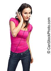 kvinna, musik