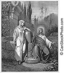 kvinna, samaria, jesus