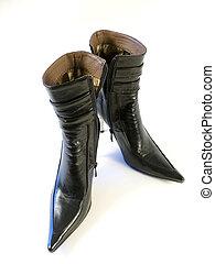 kvinna, skor