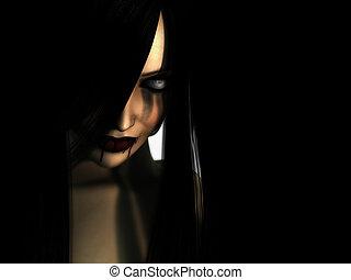 kvinna, vampyr