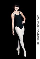 kvinnlig, ballerina