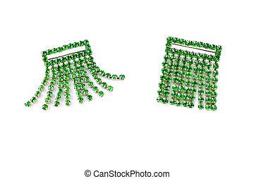 kvinnlig, tillbehör, smaragd