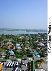 Kwai river with non-urban view - view of Kwai river with...