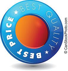 kwaliteit, best, etiket