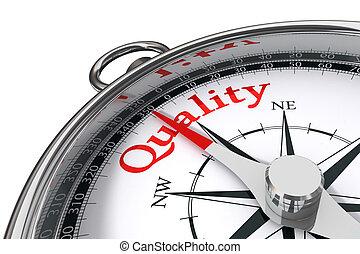 kwaliteit, concept, kompas