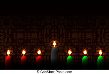Kwanzaa. Concept of an African American festival in the...