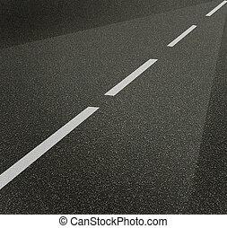 kwestia, asfalt, struktura