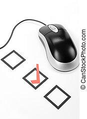 kwestionariusz, komputerowa mysz