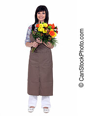 kwiaciarka, bukiet, dzierżawa