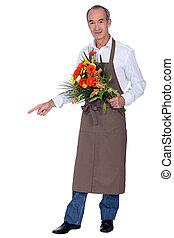 kwiaciarka, bukiet