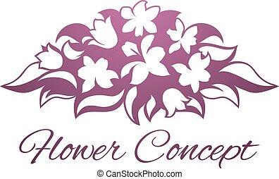 kwiaciarka, kwiatowy, kwiat, projektować, ikona