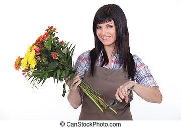 kwiaciarka, samica