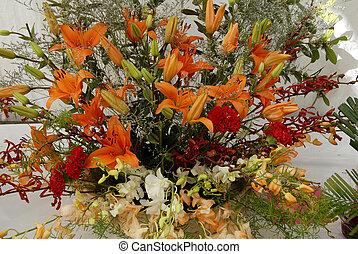 kwiat bukiet, ikebana