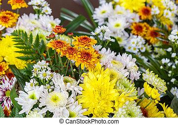 kwiat bukiet, przygotowując