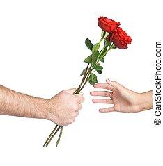kwiat, dzierżawa wręcza