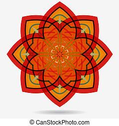 kwiat, eco, wektor, projektować, element., ikona