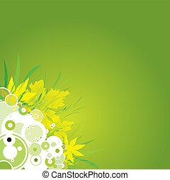 kwiat, liść, tło