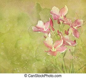 kwiat, malarstwo, ogród, tło, cyfrowy