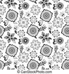 kwiat modelują, tło., wektor, illustration.
