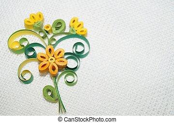 kwiat,  quilling