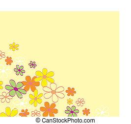 kwiat, retro, tło, struktura