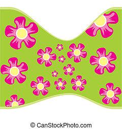 kwiat, seamless, struktura