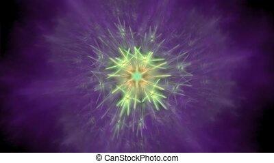 kwiat, sztuka, -, projektować, symetryczny, fractal