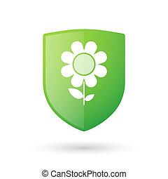 kwiat, tarcza, ikona