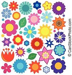 kwiat, temat, zbiór, 4