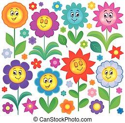 kwiat, temat, zbiór, 5