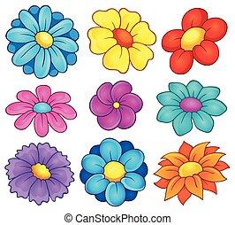 kwiat, temat, zbiór, 6