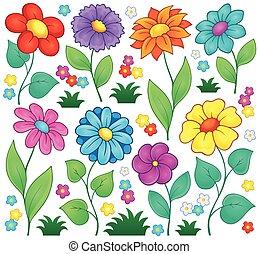 kwiat, temat, zbiór, 7