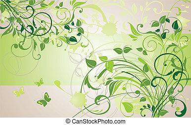 kwiatowa chorągiew