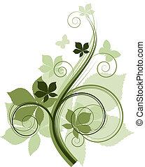 kwiatowe elementy, projektować