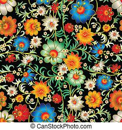 kwiatowy, abstrakcyjny, ozdoba, seamless