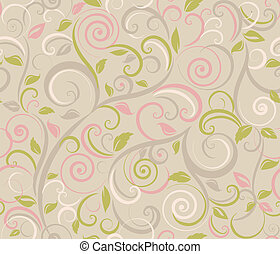 kwiatowy, abstrakcyjny, tło, seamles
