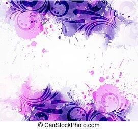 kwiatowy, abstrakcyjny, wiry, tło