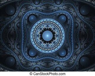 kwiatowy, arabeska, 3d, fractal
