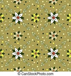 kwiatowy, dekoracyjny, ozdoba, seamless, (vector)