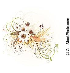 kwiatowy, dekoracyjny, tło